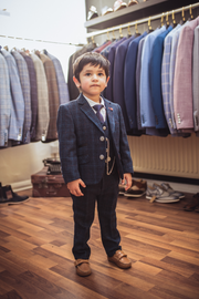 Cody Blue Tweed Boys Suit