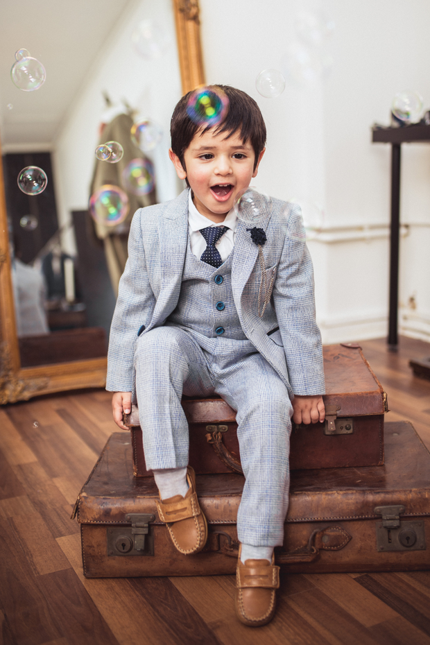 Caridi Sky Boys Three Piece Suit