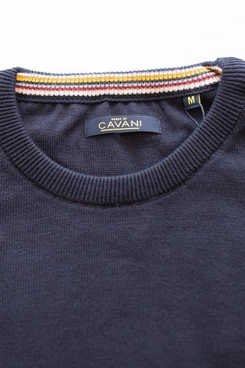 Cavani Navy Crewneck Knit