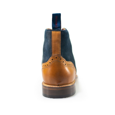 Connick Tan/Navy Brogue Boots
