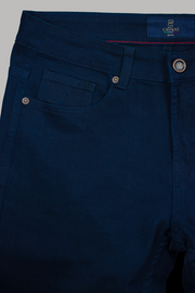 Milano Navy Stretch Denim Jeans