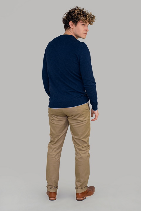 Oscar Navy Knit Jumper