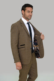 Ascari Tweed Slim Fit Blazer