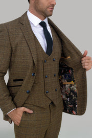 Ascari Brown Tweed Three Piece Suit