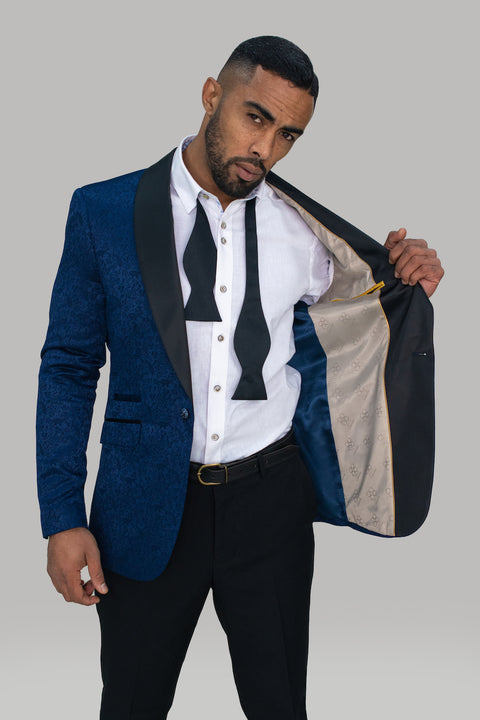 Bella Navy Slim Fit Blazer