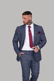 Bonita Blue Check Blazer