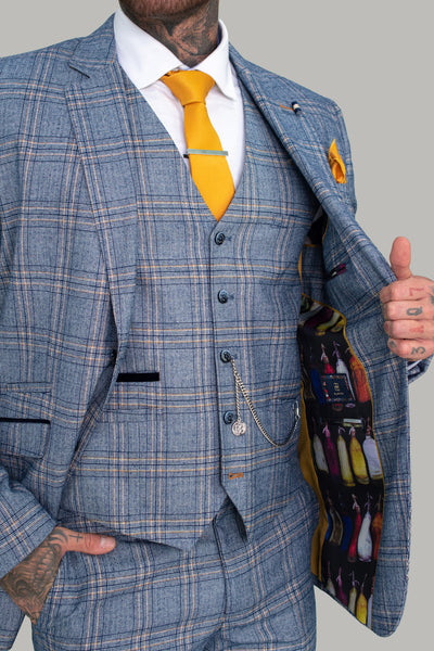 Brendan Blue Check Blazer