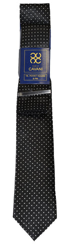 Black Dot Tie Set - Cavani