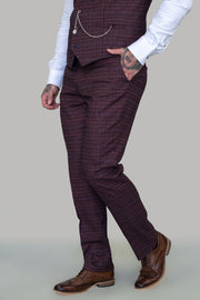 Carly Check Slim Fit Trousers