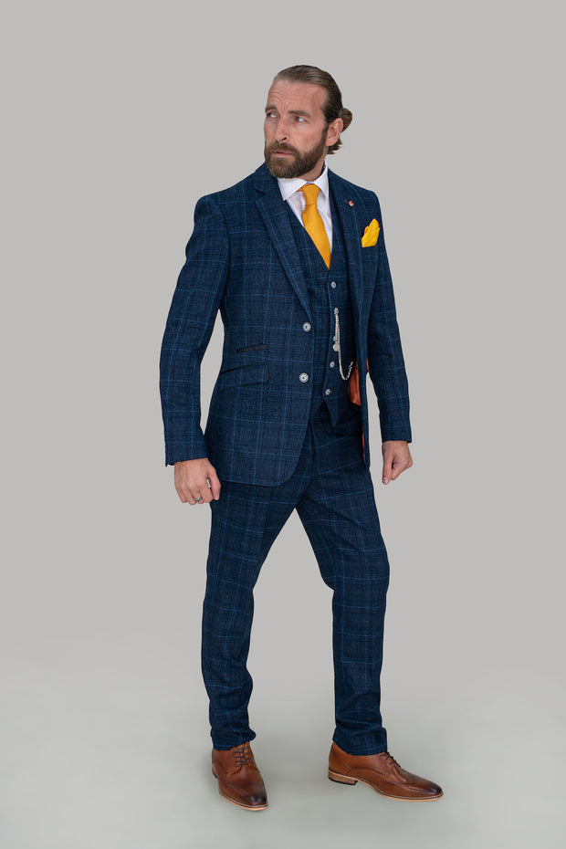 Cody Blue Check Slim Fit Suit