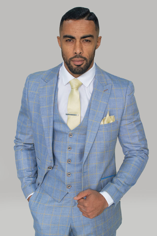 Connor Light Blue Slim Fit Suit