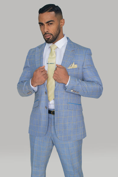 Connor Light Blue Slim Fit Blazer