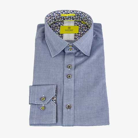 AXL Blue Premium Cotton Shirt