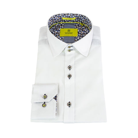 AXL White Premium Cotton Shirt