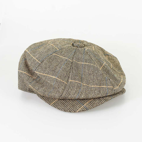 Albert Brown Baker Boy Style Flat Cap