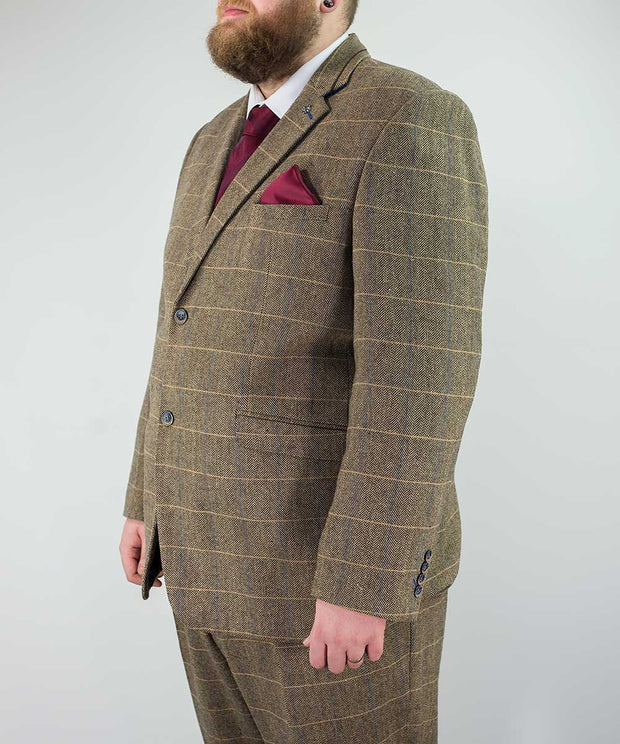 Albert Brown Tweed Extra Large Two Piece Suit