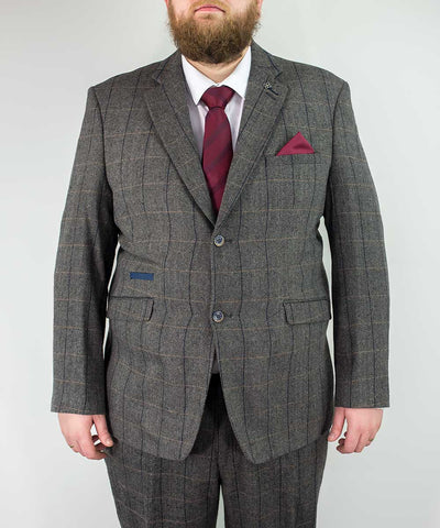 Albert Grey Tweed Extra Large Two Piece Suit