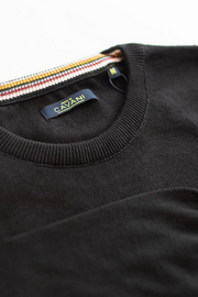 Cavani Black Crewneck Knit