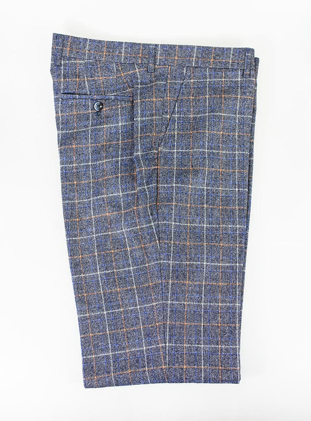 Bonita Blue Check Slim Fit Trousers