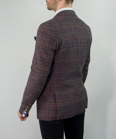 Brendan Wine Check Blazer