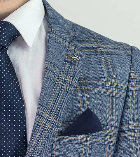 Brendan Blue Check Slim Fit Suit