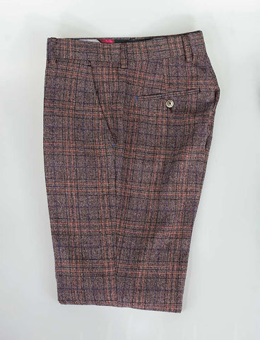 Brendan Wine Check Trousers