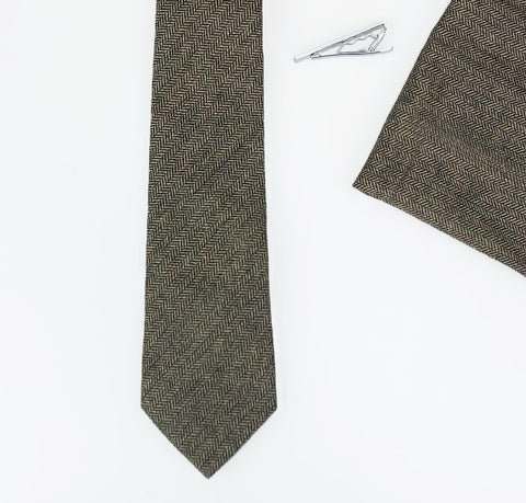 Martez Brown Tweed Tie Set - Cavani