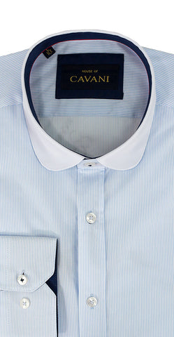 Shirt No. 646 Sky Blue Stripe