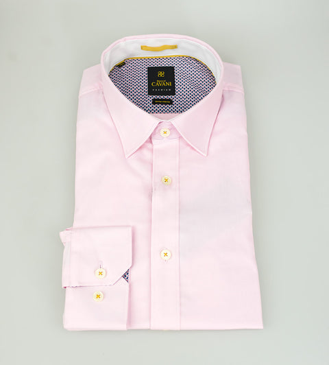 Oxford 65 Pink Stretch Shirt - Cavani
