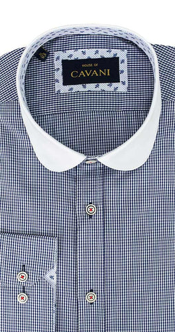 Shirt No. 651 Navy White