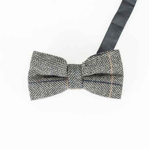 Albert Grey Bow Tie Set