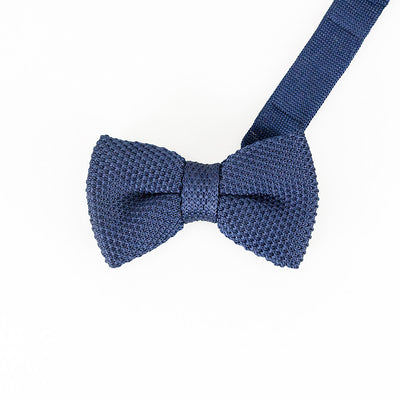 Navy Knitted Bow Tie Set