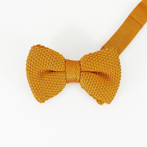 Tobacco Knitted Bow Tie Set