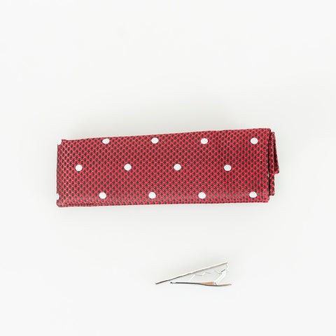 Red Dot Knitted Tie Set