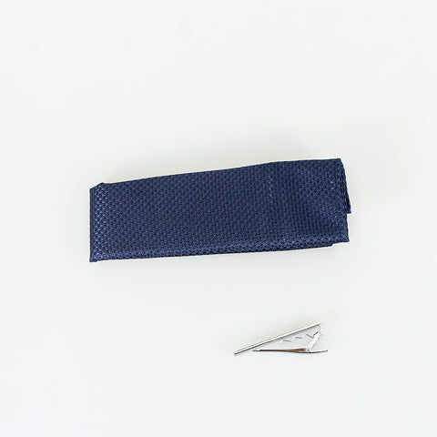 Navy Knitted Tie Set