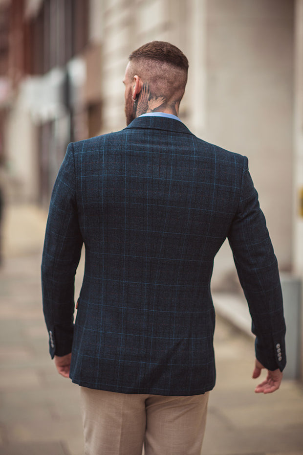 Cody Blue Check Blazer
