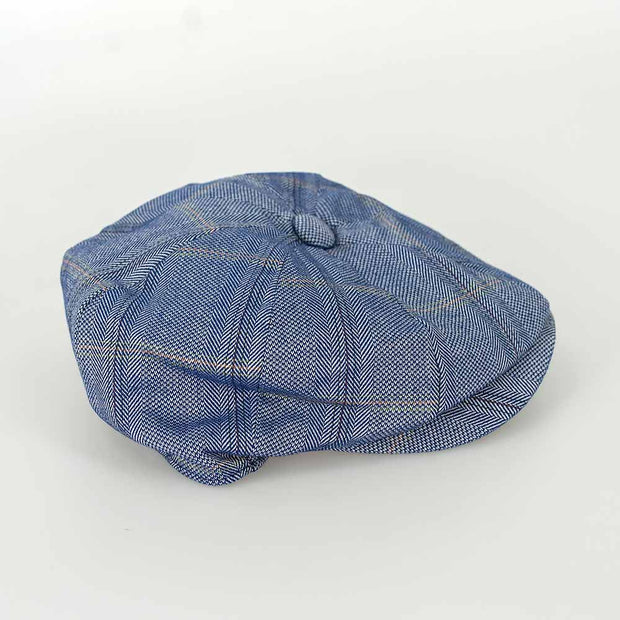 Connall Blue Baker Boy Cap