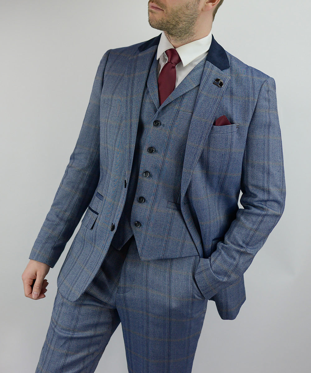 Tweed Suits | Connall Blue | House Of Cavani