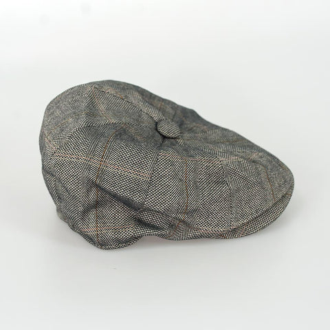Connall Brown Baker Boy Style Flat Cap