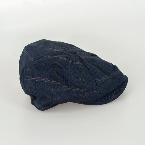 Connall Navy Baker Boy Cap
