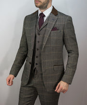 Connall Brown Suit - Cavani