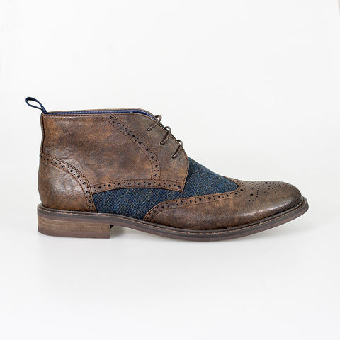Curtis Brown Lace Up Boots