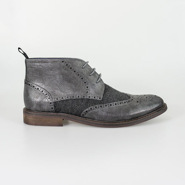 Curtis Grey Lace Up Boots