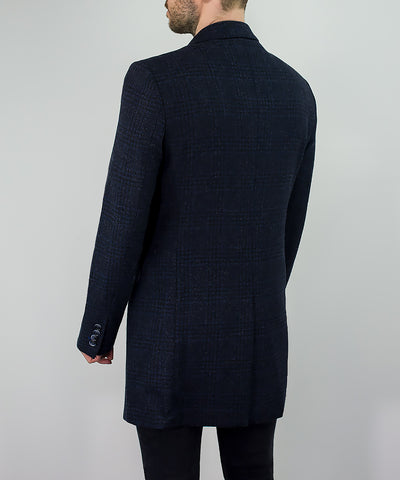 Danilo Navy Slim Fit Overcoat