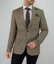 Dominic Tan Tweed Check Blazer