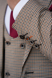 Elwood Houndstooth Skinny Three Piece Suit