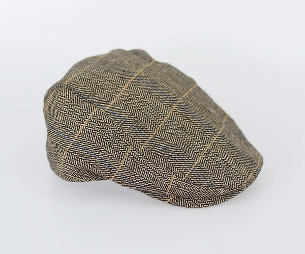 House Of Cavani Albert Brown Peaky Blinders Style Tweed Flat Cap Hat