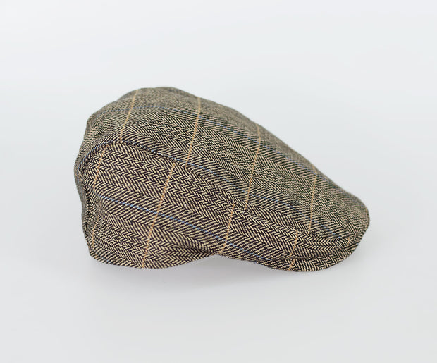 Albert Brown Tweed Check Flat Cap