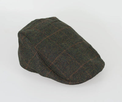 House Of Cavani Kemson Olive Peaky Blinders Style Tweed Flat Cap Hat