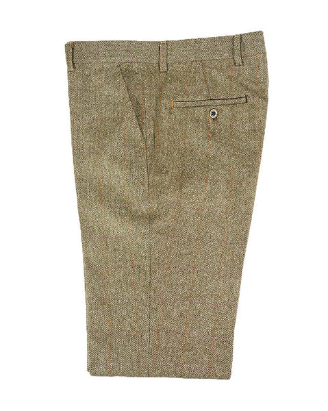 Gaston Sage Tweed Slim Fit Trousers